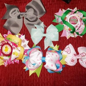 Lot of 6 Boutique Hairbows